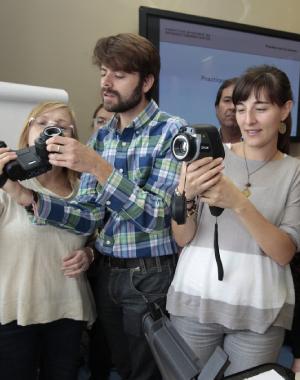 Formación semipresencial, alumnos ITC con cámaras FLIR, Apliter Termografia